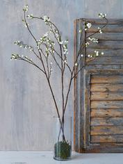 Tall Faux Snowberry Branch