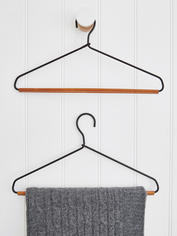 Leather & Metal Hanger