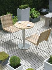 Teak & Stainless Steel Table & Chairs
