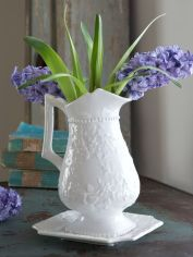 White Ceramic Pitcher and Tray