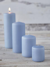 Nordic Blue Pillar Candles