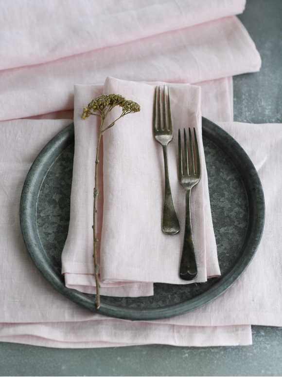 Blush Pink Table Linen