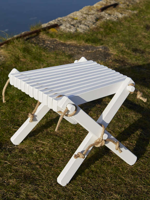 White Birch Side Table/Foot Stool