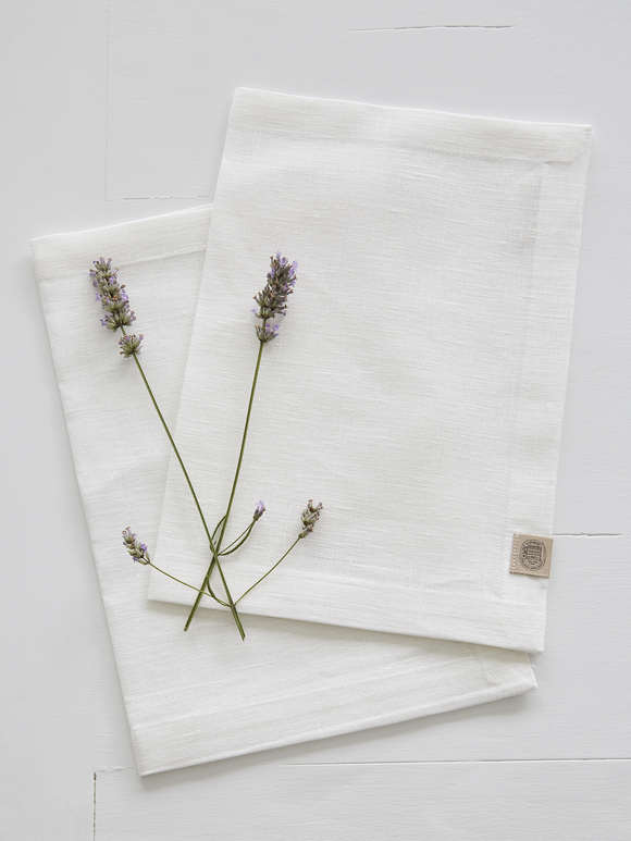 Ivory Linen Placemats - Set of 2
