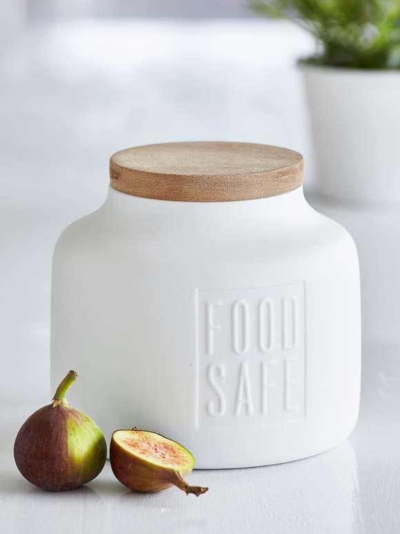Elegant White Storage Jar