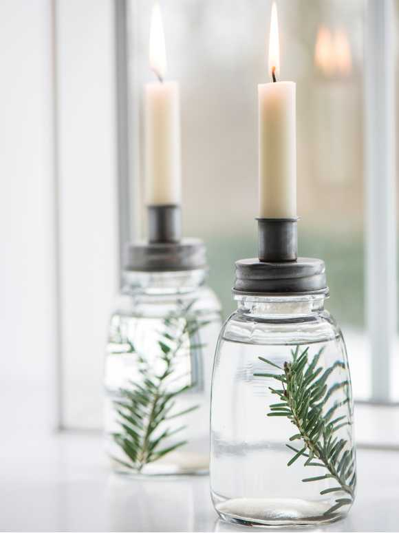 Retro Jar Candle Holder - Zinc