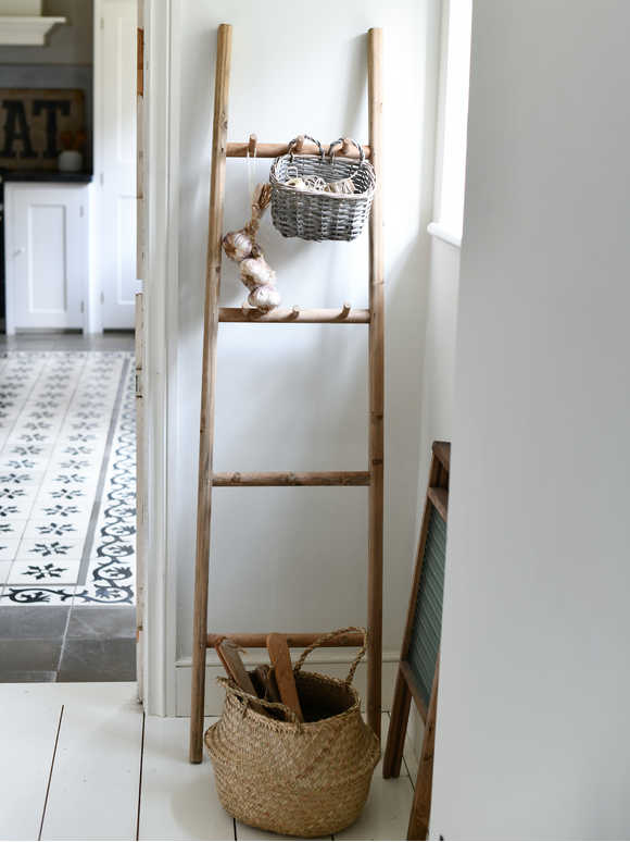 Rustic Wood Display Ladder