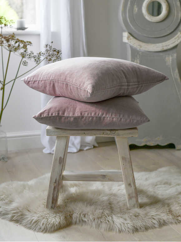 Dusty Pink Linen Cushion