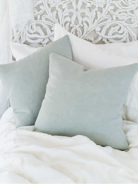 Light Sage Linen Cushion