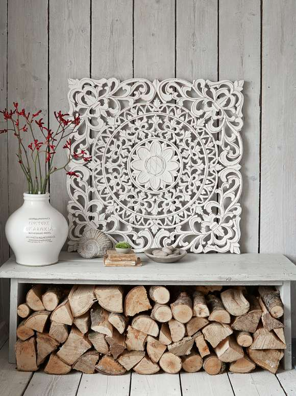 Large Carved Wall Panel - Aina