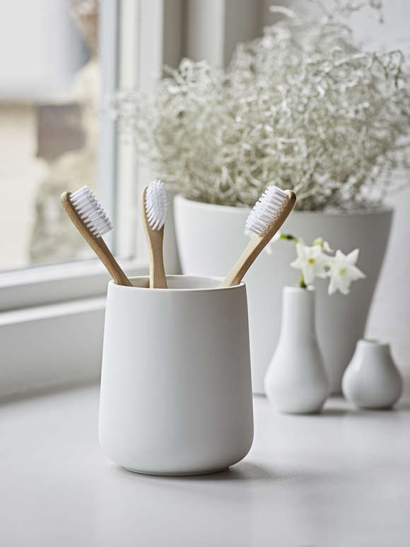 White Toothbrush Mug