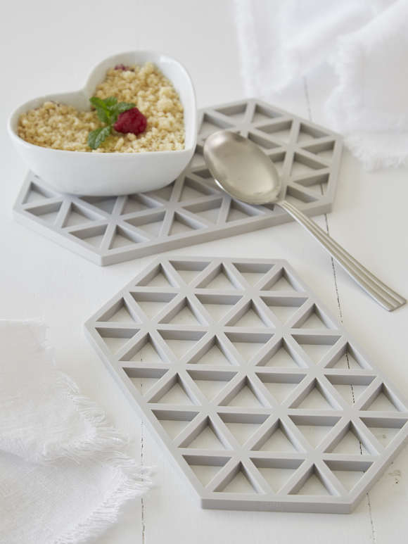Light Grey Silicone Trivet