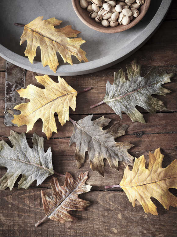 Faux Autumn Leaves
