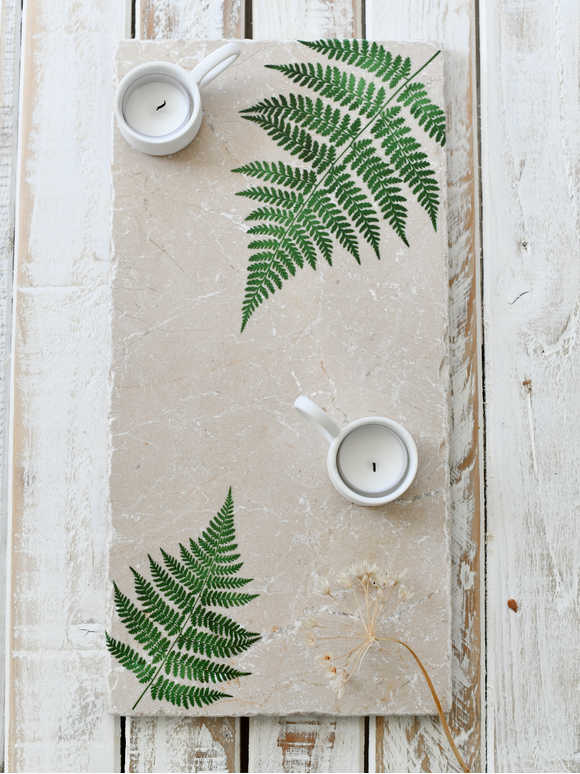 Large Stone Platter - Forest Fern