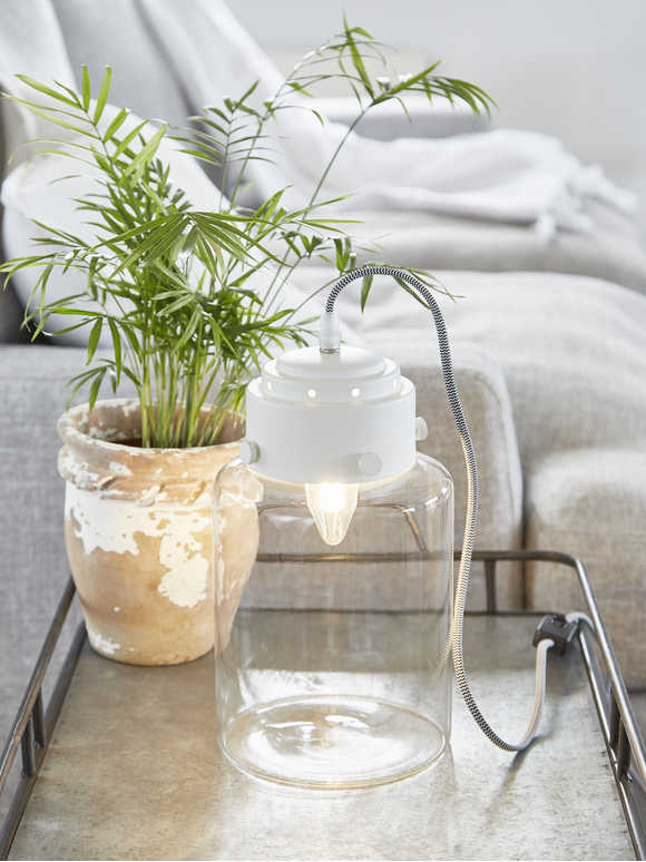 Jar Table Lamp - Soft White