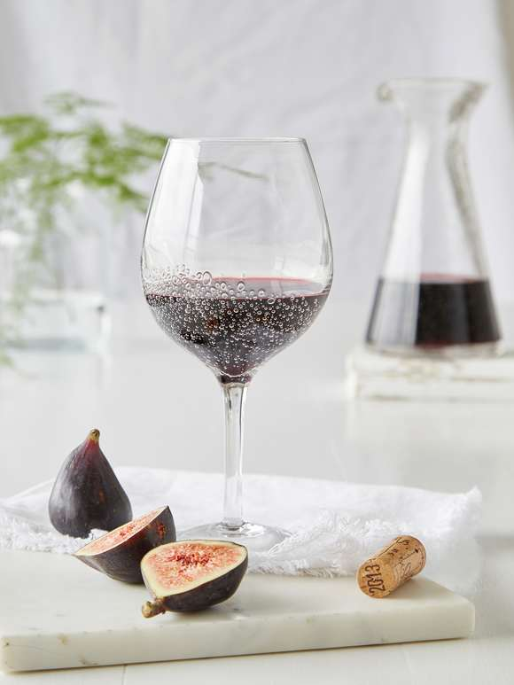 Bubble Wine Glasses - Red