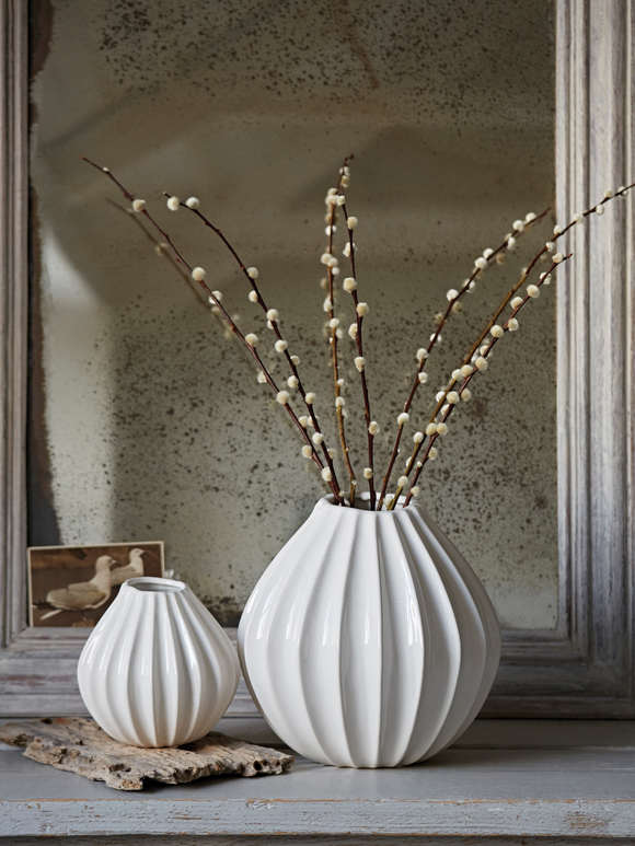 White Graceful Ceramic Vases