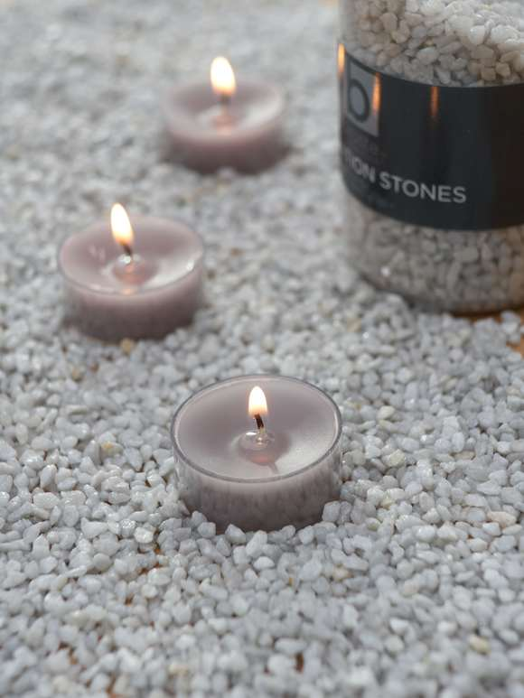 Dove Grey Candle Gravel
