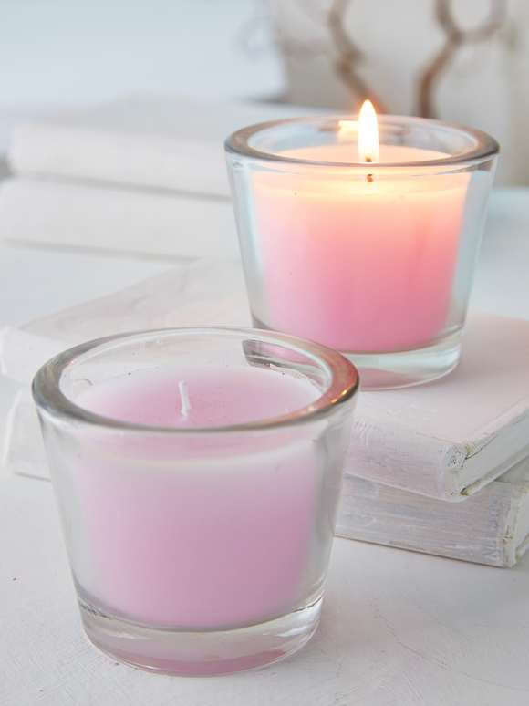 Pastel Lilac Glass Candle Votive
