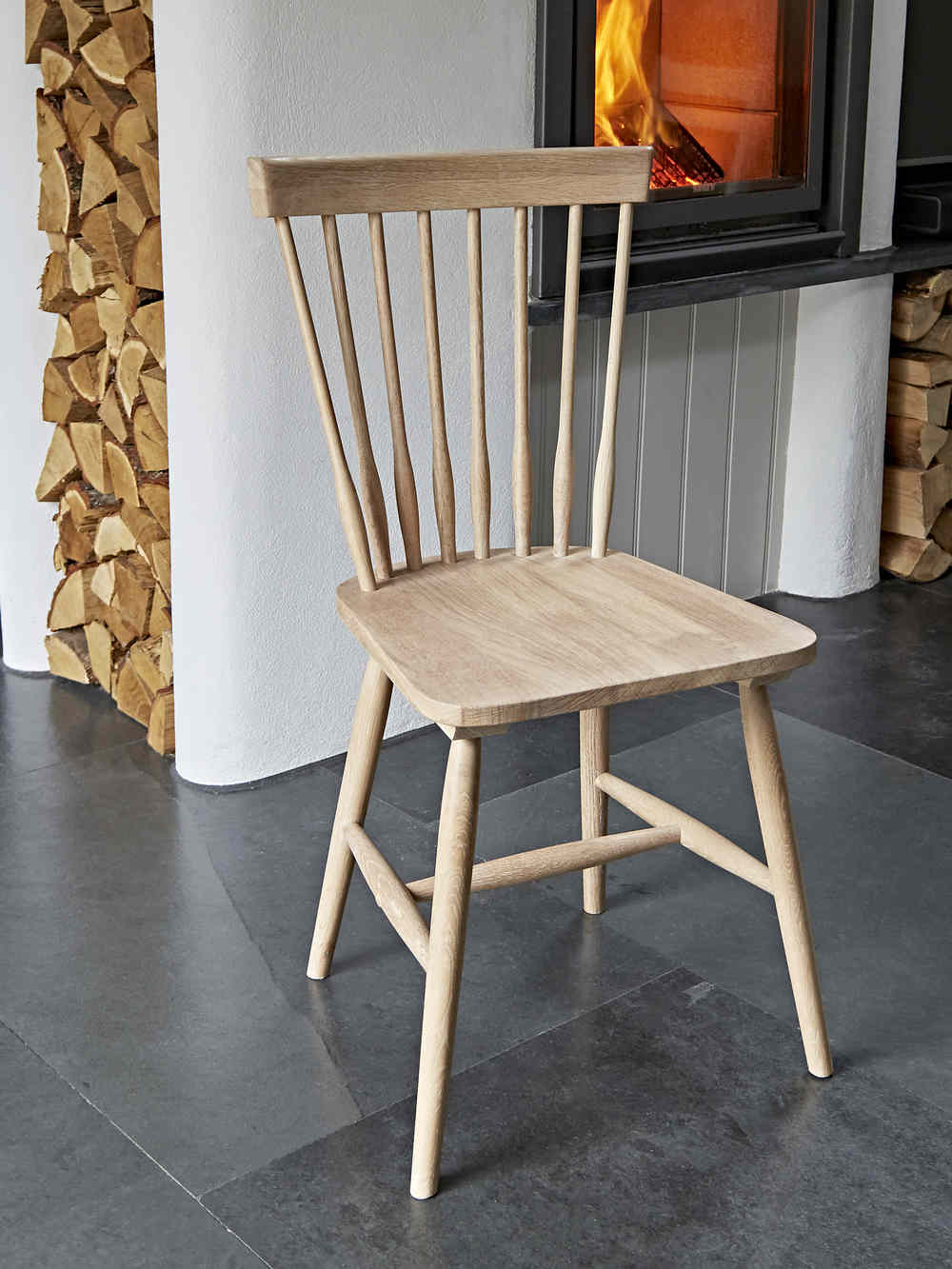 At Home Kitchen Chairs.Blom Dining Chair Oak