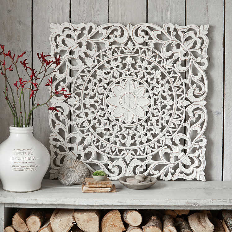 Large Carved Wall Panel Aina