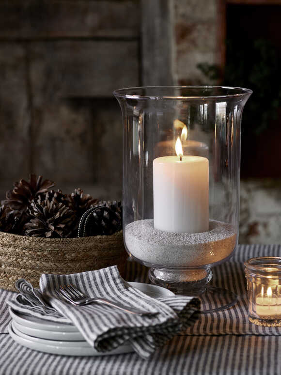 Artisan Glass Hurricane Lamp