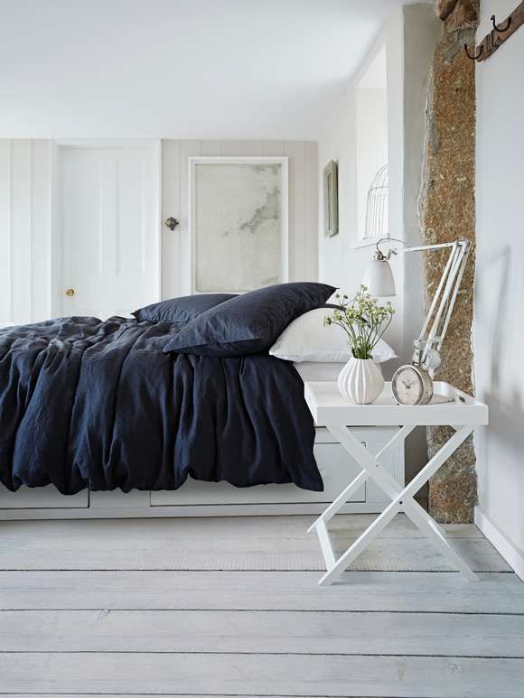 Artisan Linen Bed Set - Black