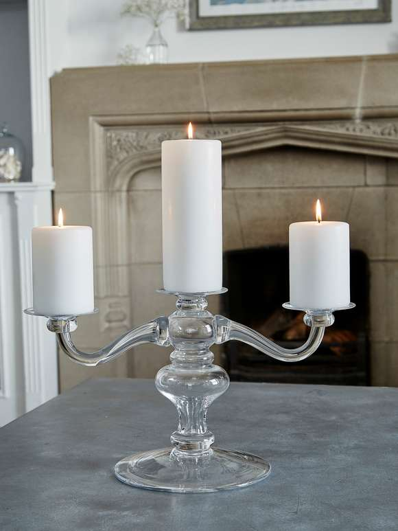 Pure Handblown Glass Candelabra