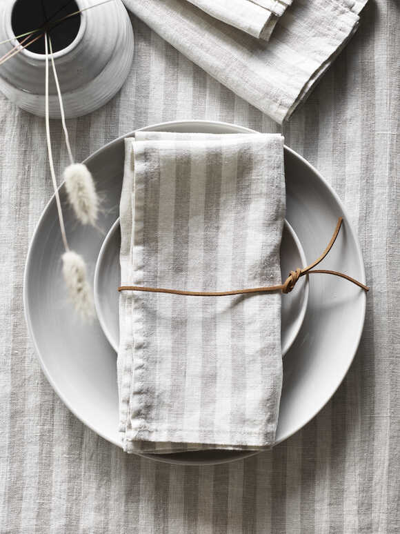 Natural Stripe Napkins