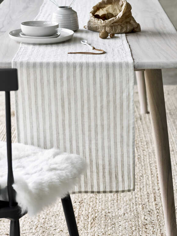 Natural Stripe Table Runner