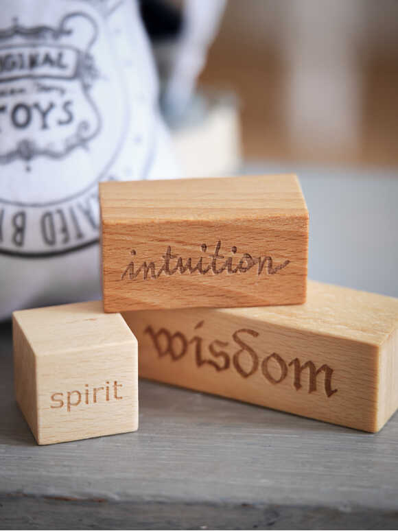 Hand-Crafted Wooden Blocks - Wisdom
