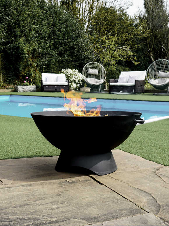 Black Artisan Fire Bowl
