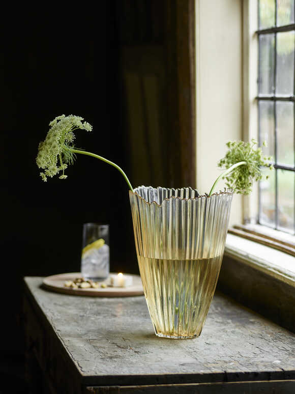 Gold Ombre Glass Vase