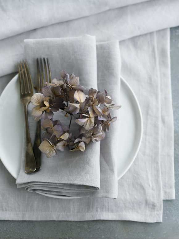 Pale Grey Table Linen