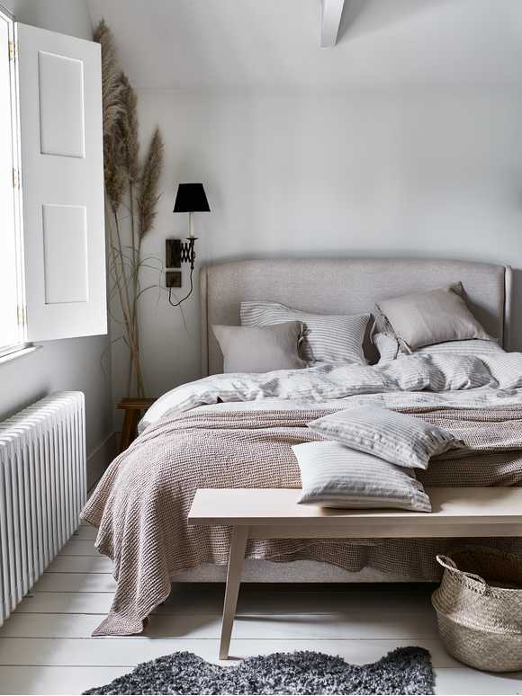 Natural Stripe Linen Bedding