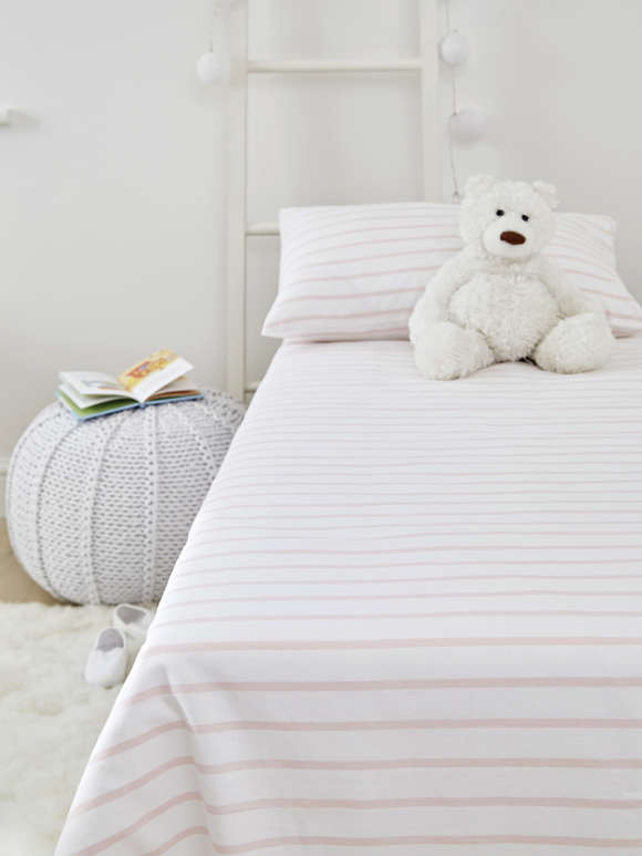 Yarn-Dyed Cot Bed Set - Pink