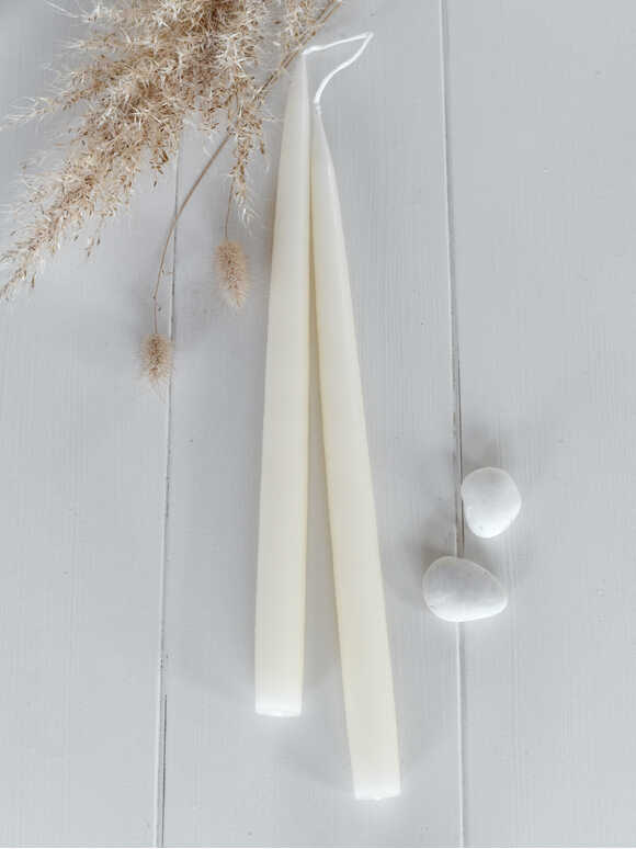 Tapered Dinner Candles - Ivory