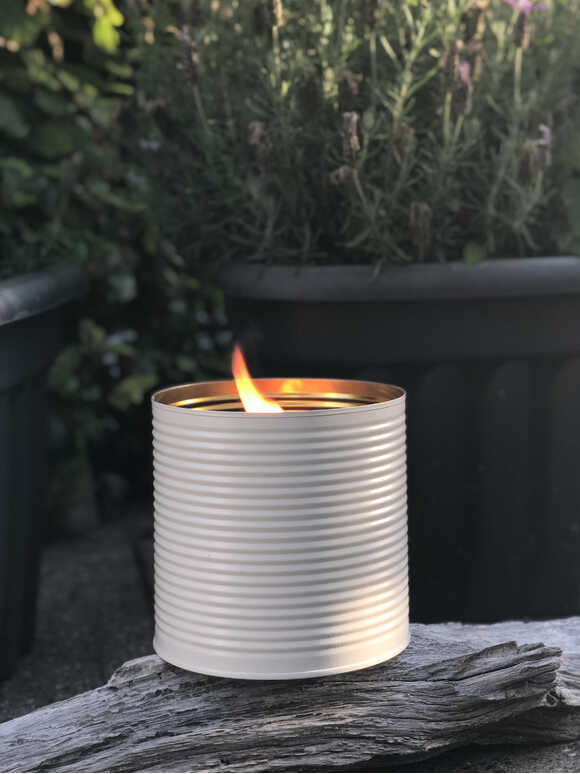 White Outdoor Candle Pot