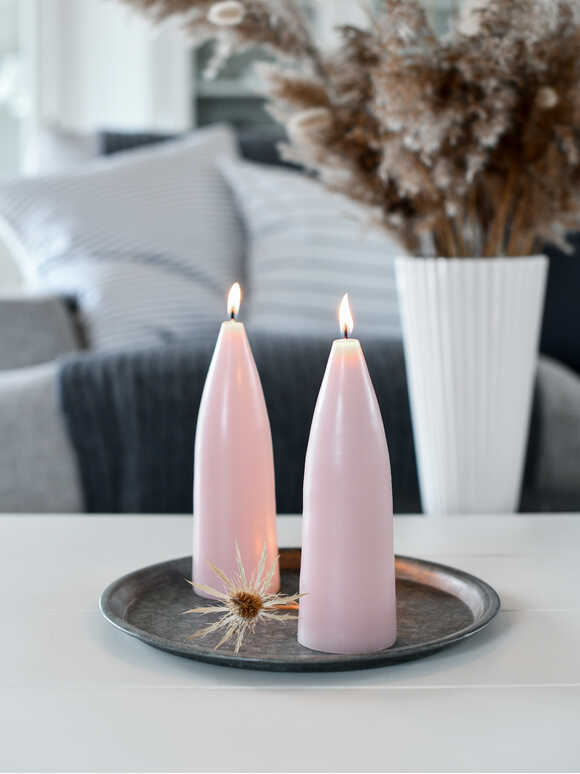 Danish Cone Candle - Soft Pink