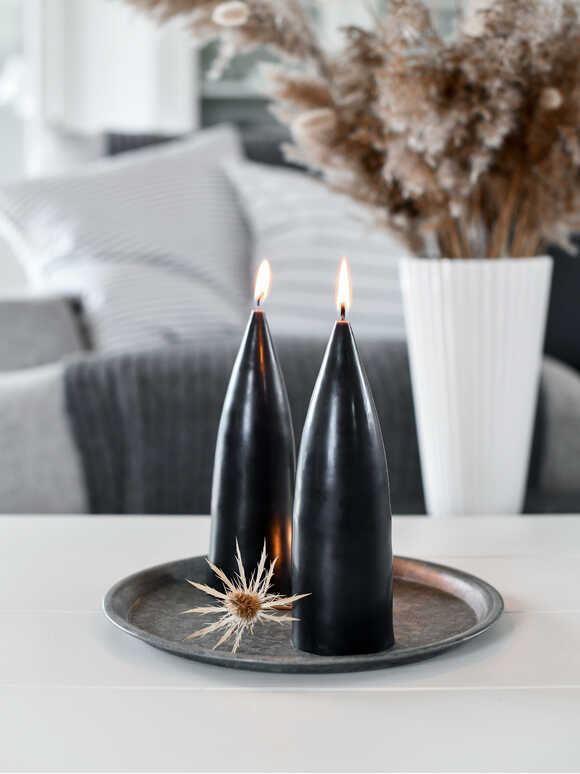 Danish Cone Candle - Deep Black