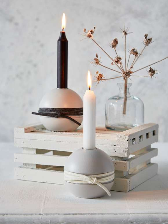 Hand-Turned Swedish Candle Holders