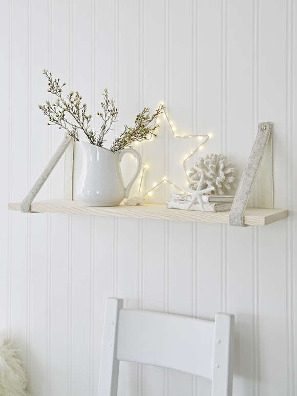 Contemporary Scandi Shelf - Ivory/Light Grey