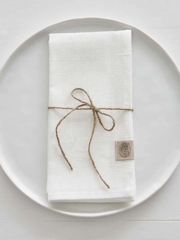 Ivory Linen Napkins - Set of 2
