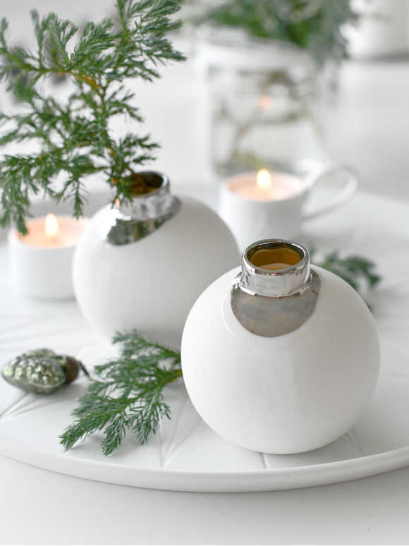White Bauble Vase