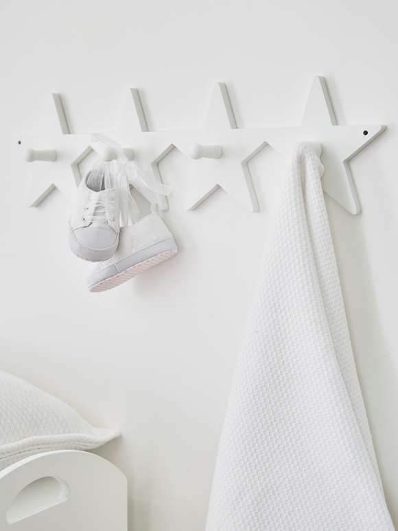 Star Coat Rack - White