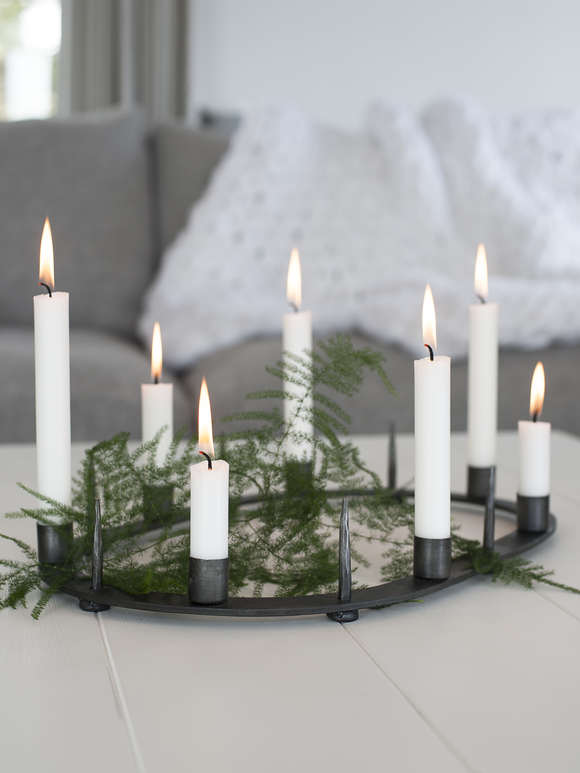 Wrought Iron Candle Centrepiece