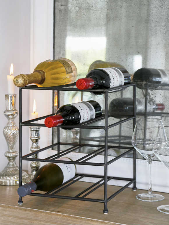 Rustic Metal Wine Rack