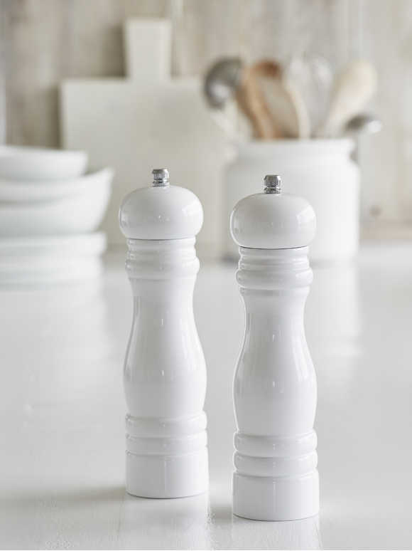 White Salt and Pepper Mill