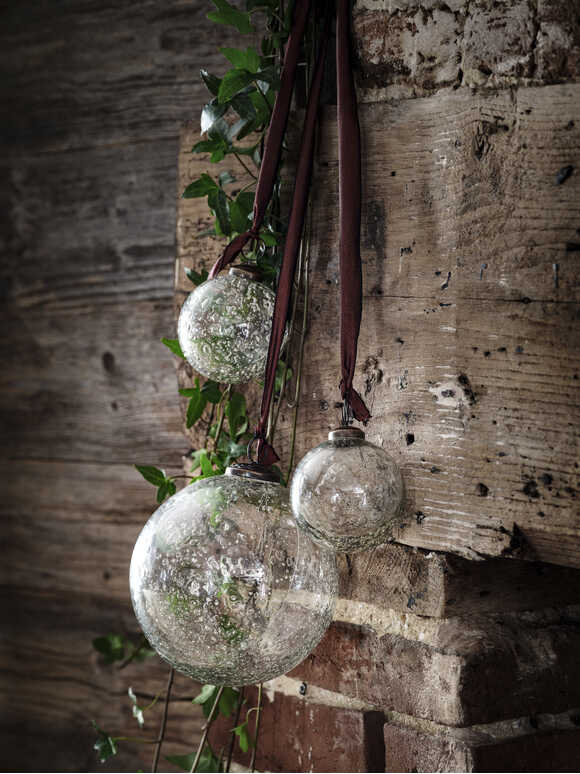 Vintage Clear Glass Bauble
