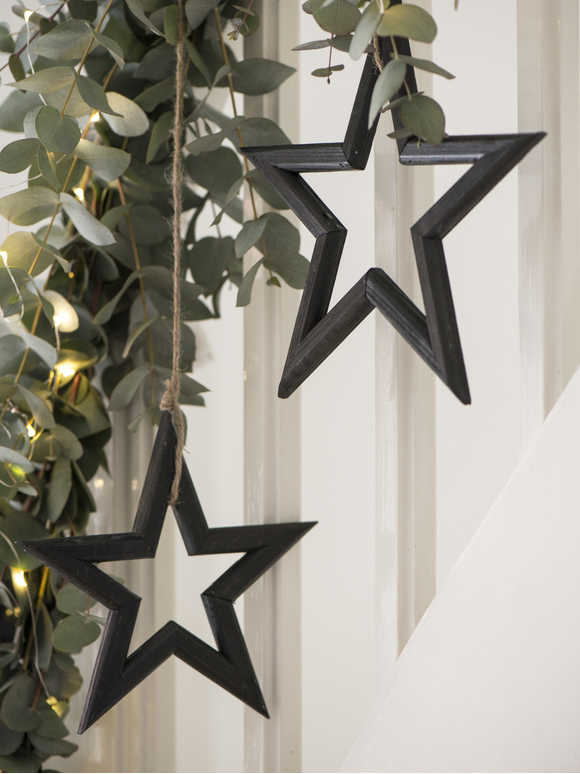 Black Wooden Star Set